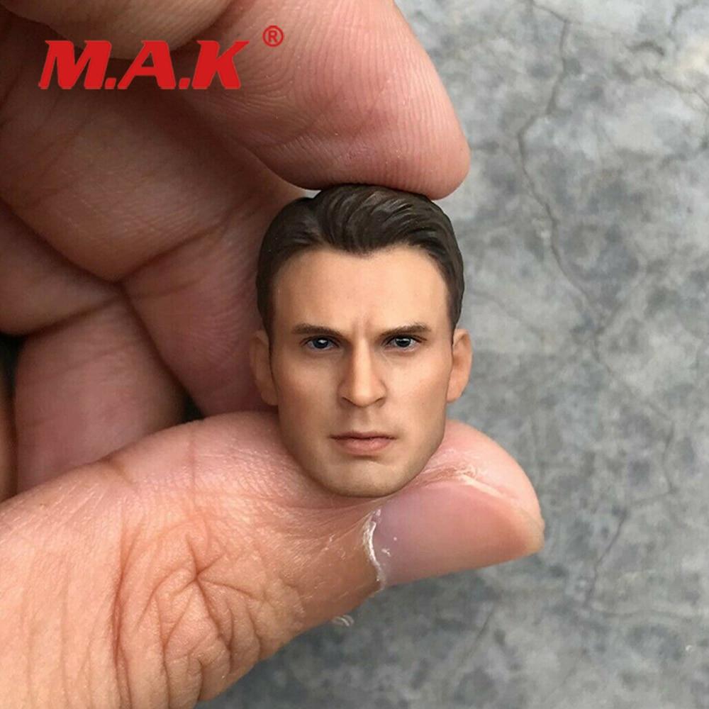 1:12 Scale Male Figure Accessory Captain America Head Sculpt Steve Rogers Model Collectible For 6'' Figure Body In Stock