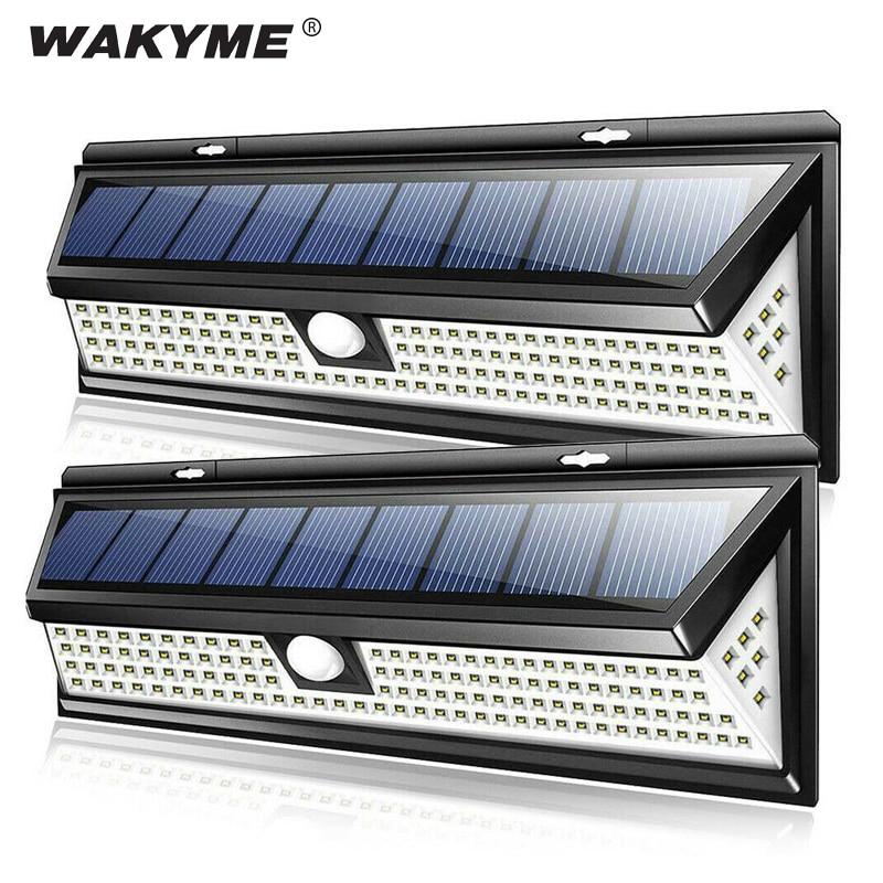 WAKYME 118 LED Solar Light Outdoor Motion Sensor Wall Lamp Waterproof Solar Powered Garden Security Floodlight Home Lighting