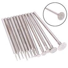 12Pcs 2,3 Schaft Diamant Schleifen Burr Nadel Punkt Gravur Carving Polieren Glas Jade Stein Bohrer Dreh Werkzeug Set
