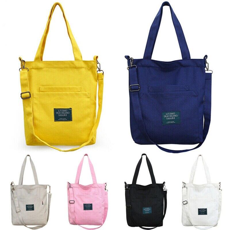 Fashion Women's Canvas Handbag Shoulder Bag Messenger Bag Multifunction Travel Large Satchel Purse