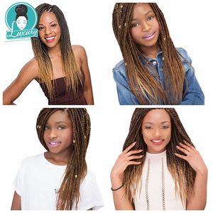 Image 4 - Luxury 10packs Bulk Buy Pre Stretched Braiding Hair Synthetic Hair Extensions 26inch Ombre color EZ braids