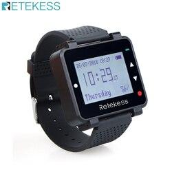 Retekess t128 relógio receptor 433.92 mhz preto para sistema de chamada sem fio garçom pager restaurante equipamento atendimento ao cliente