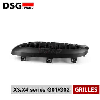 Front Kidney Grill For BMW G01 G02 Bumper Racing Grille X3 X4 ABS Gloss Black/Matt Black Auto Styling xDrive20i xDrive30i 2018+
