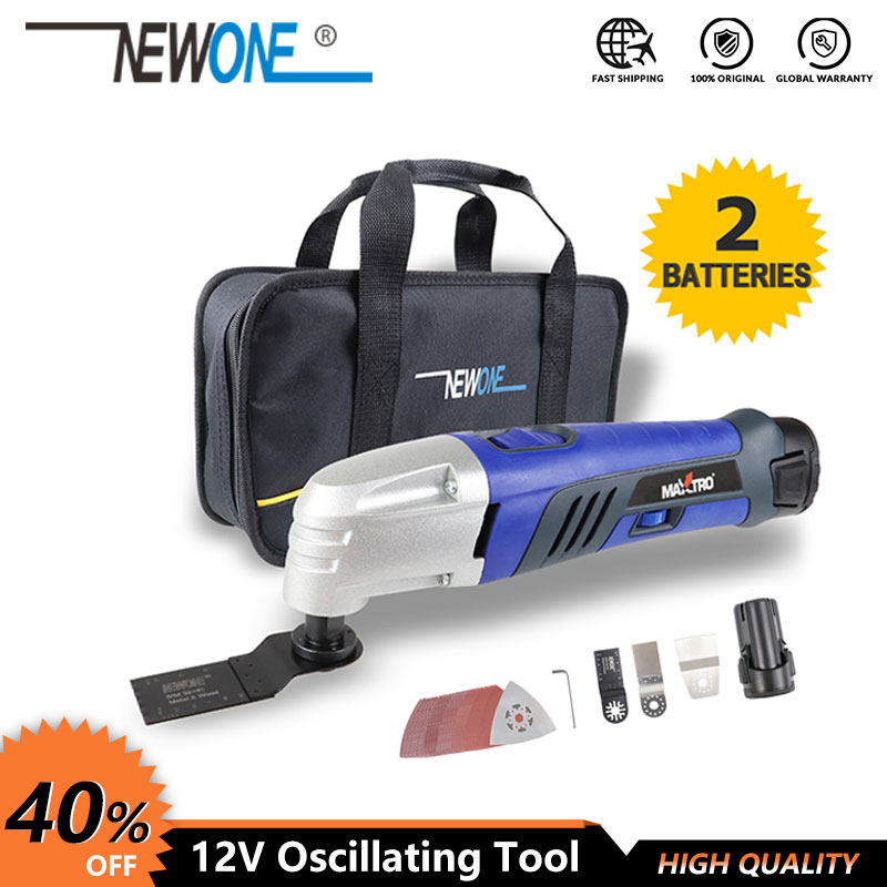 Promotion 10.8V Li-ion Oscillating Multi-Tool With 2 Battery Cordless Power Tools For Home DIY Renovation Tools For Wood Cutting