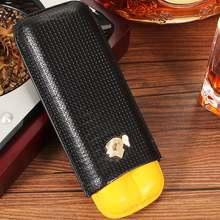 Cohiba кожаный чехол для сигар humidor портативный карман 2