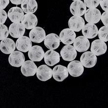 Natural Dull Polish Faceted Clean Austria Glass Crystal Round Loose Beads For Jewelry Making 8mm Spacer Fit Diy Bracelet