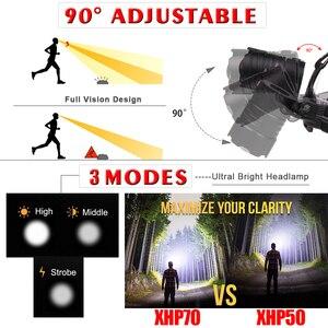 Image 4 - Phare puissant XHP70.2 LED phare USB Rechargeable lampe frontale Zoom étanche phare de blanc jaune éclairage par 18650