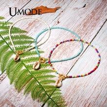 UMODE Shell Choker Colorful Beads Necklace Pendants for Women Fashion Bohemian Boho Chic Bib Collier Femme Dropshiping PN0687