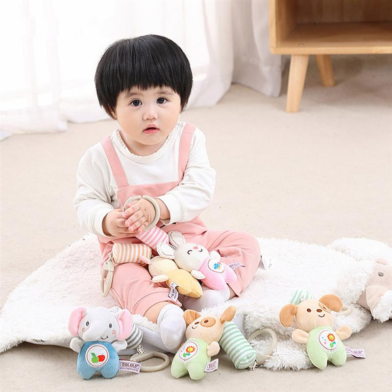 1pc Baby Infant Soft Rattle Cot Bed Pram Hanging Soothing Plush Toy IT