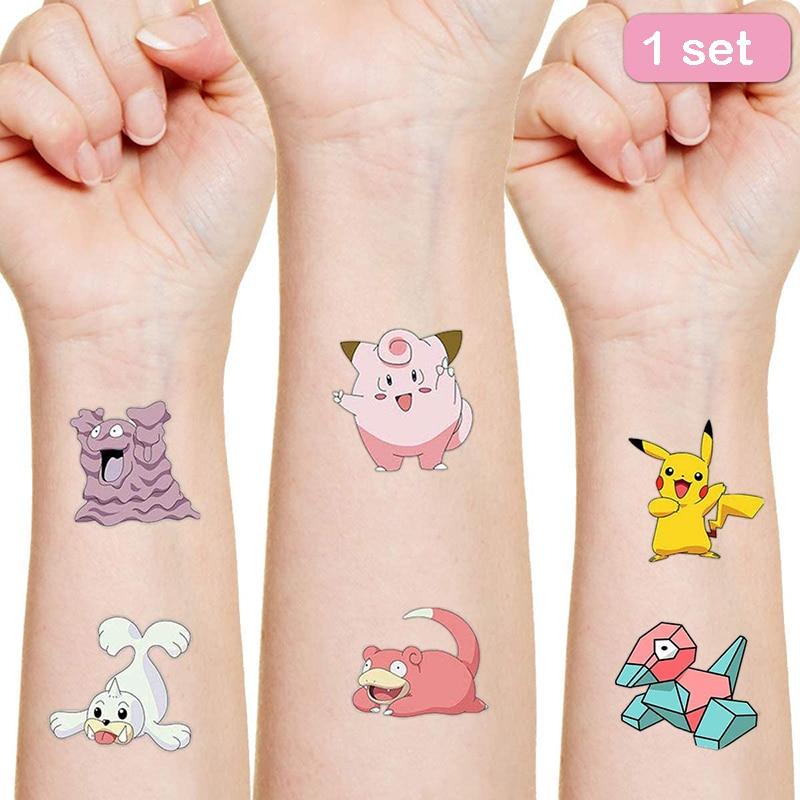 Pokemon Originales Tattoo Sticker Random 1PCS Action Figure Surprise Cartoon Kids Girls Christmas lols Birthday Gifts