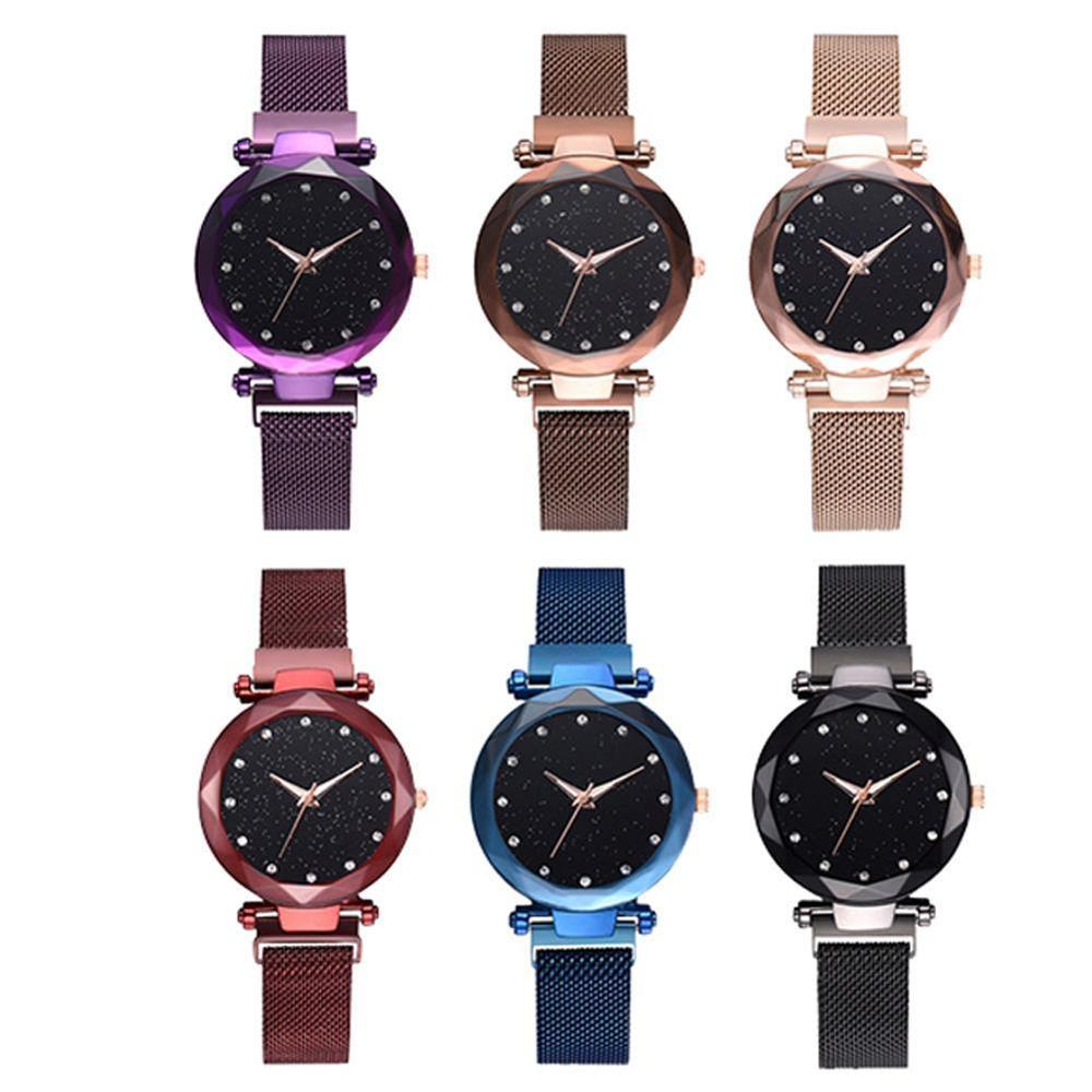 Female Fashion Net Belt Quartz Love Watch Steel Alloy Band Leisure Watches Stainless Steel Strap Watch