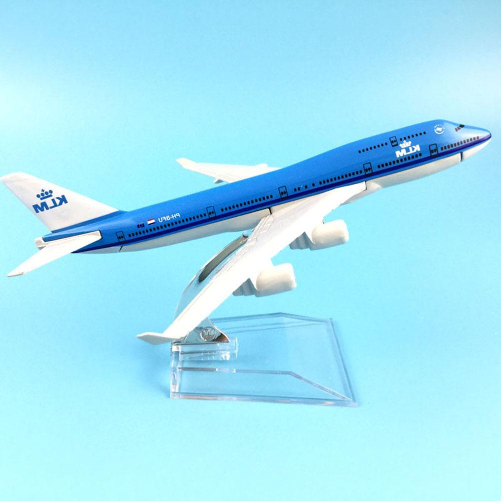 16cm 1/400 Diecast Air KLM Plane 747 Aircraft Airplane Model Plane Simulation 16 Alloy CHRISTMAS Toys Birthday Gift Kids Boys image