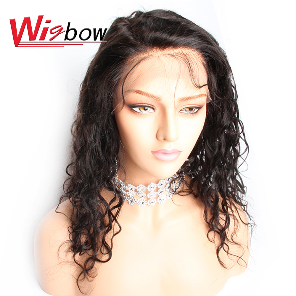 Wigbow OneCut Hair 8- 28 inch Brazilian Deep Wave Long Full Lace Human Hair Wigs Pre Plucked Hairline With Baby Hair