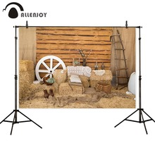 Allenjoy photophone backdrops autumn warehouse hay farm fall barn wood ladder decor photographic background photobooth photocall