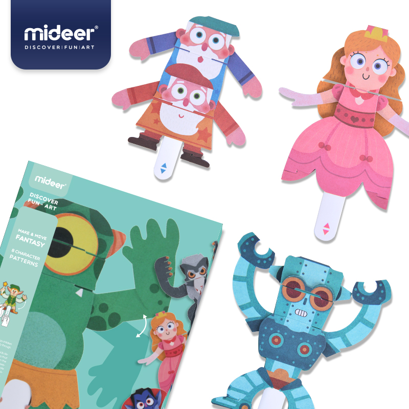 Mideer Origami 3D Stereo Drawing Paper Model DIY Manual Splicing Paper Model Educational Toys For Children >3 Years Old