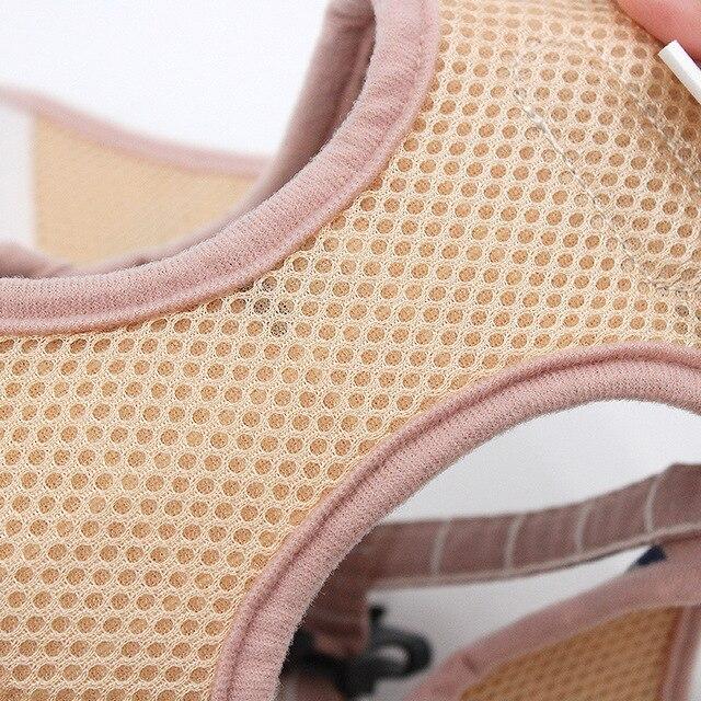 Reflective Dog Cat Harness Adjustable Vest Walking Soft Mesh Breathable Pet Collar Traction Leash Set for Dog Pet Supplies 3