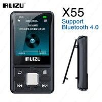 RUIZU X55 Clip Sport lettore MP3 Bluetooth 8GB Mini con supporto schermo TF Card,FM, registrazione, E-Book, orologio, contapassi lettore musicale