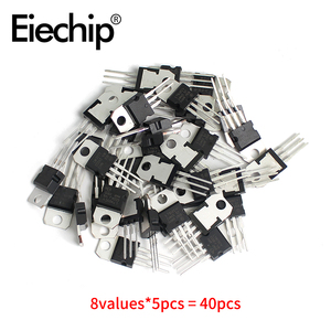 Image 5 - Set de reguladores de voltaje IC TO 220 L7805/7806/7809/7812/7815/7905/7909 LM317T, Kit de surtido de transistores Mosfet, 40 unidades