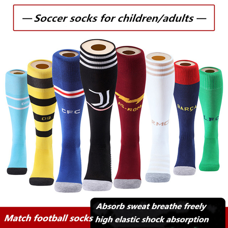 Professional Adult Children Europe Soccer Club Football Socks Boys Soccer Sock Kids Above Knee Long Men High Breathable Sock