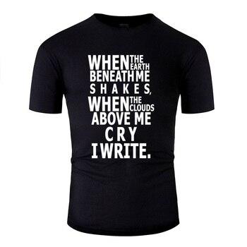 Designing Write (Black And White) Tshirt Men Cotton Black Men And Women T-Shirts Clothing Tee Top