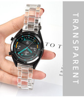 Kreativität Transparent Gletscher Strap 20mm 22mm Für Samsung Galaxy Uhr 42mm 46mm Amazfit Tempo Huawei Uhr 2 Samsung Getriebe S2