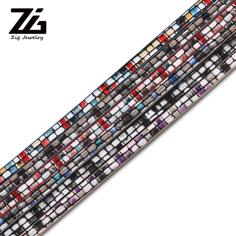 ZG 5mm Flat PU Leather Cor/Jewelry Findings Accessories/Fashion Jewelry Making/Bracelet Materials
