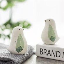 Bonito moderno pequeno fresco de cerâmica animal pássaro decoração do quarto das crianças no computador desktop no quarto decoração da loja casa