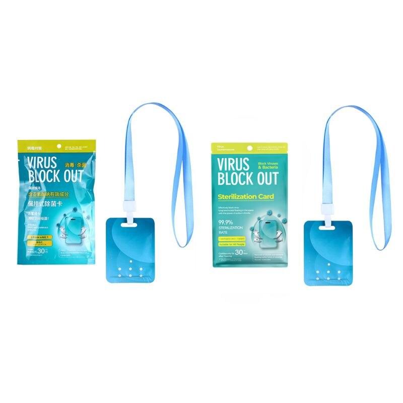 Portable Children Sterilization Card Antibacterial Card Sterilization Protection Card Prevention Flu Air Purification