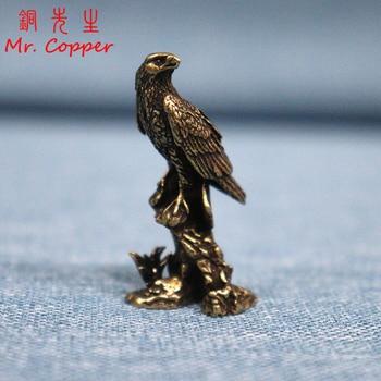 Handmade Brass Eagle Ornaments Accessories Vintage Pure Copper Bird Desk Decor Accessories Animal Home Decoration Mini Figurines 1