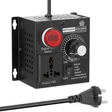 Régulateur de tension ca 220V 4000W régulateur de tension Variable compacte variateur réglable de tension de lumière de température de vitesse Portable