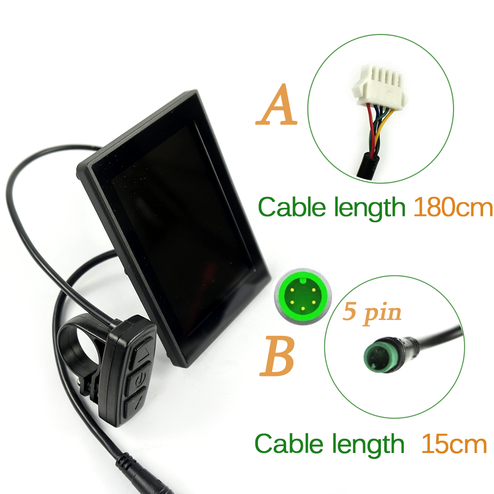 BOLLFIT Free Shipping  KT Kunteng LCD8S  New Arrival Electric Bicycle Accessories Display Electrice Bike Lcd Ebike Sets