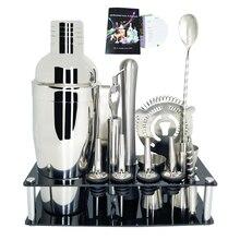750 600 мл Нержавеющая сталь шейкер Смеситель комплект для бара, для бармена шейкер ложка Pourerstraw льда Тонг Набор инструментов с винный шкаф