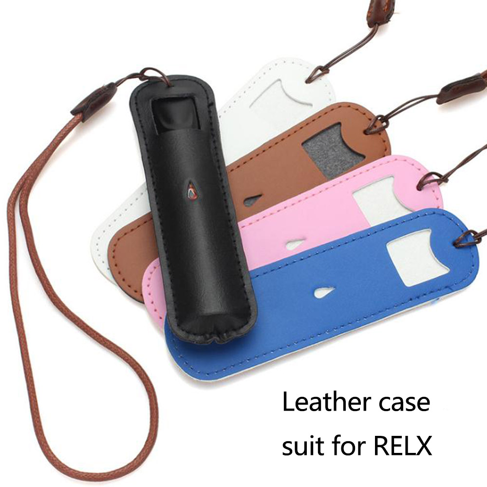 Leather Case Protective Cover Suit For RELX Pod Kit Wrap Sleeve Skin With  Lanyard Sling
