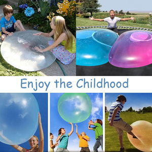Children Outdoor Soft Air Water Filled Bubble Ball Blow Up Balloon Toy Fun party game gift for kids inflatable gift funny ball(China)