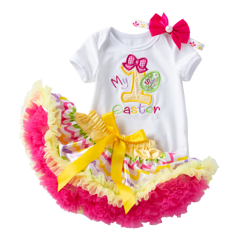 Ropa Para niña pequeña, trajes de My First Easter para niña de 2 años, ropa de Boutique, vestidos de bautizo, trajes para niña pequeña