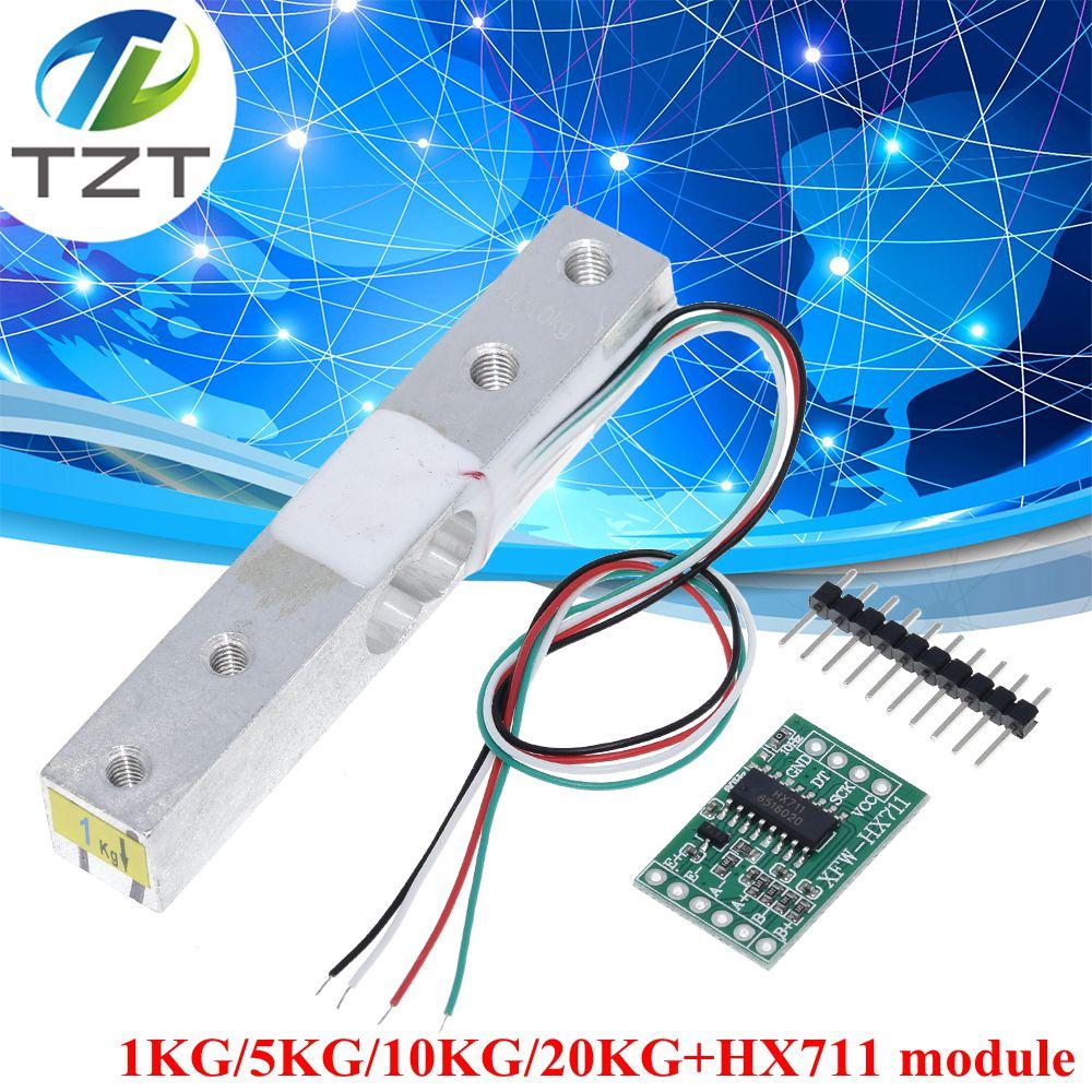 TZT датчик веса тензодатчика 1кг 5кг 10кг 20кг HX711 Модуль электронные весы из алюминиевого сплава датчик давления для взвешивания Ad Модуль