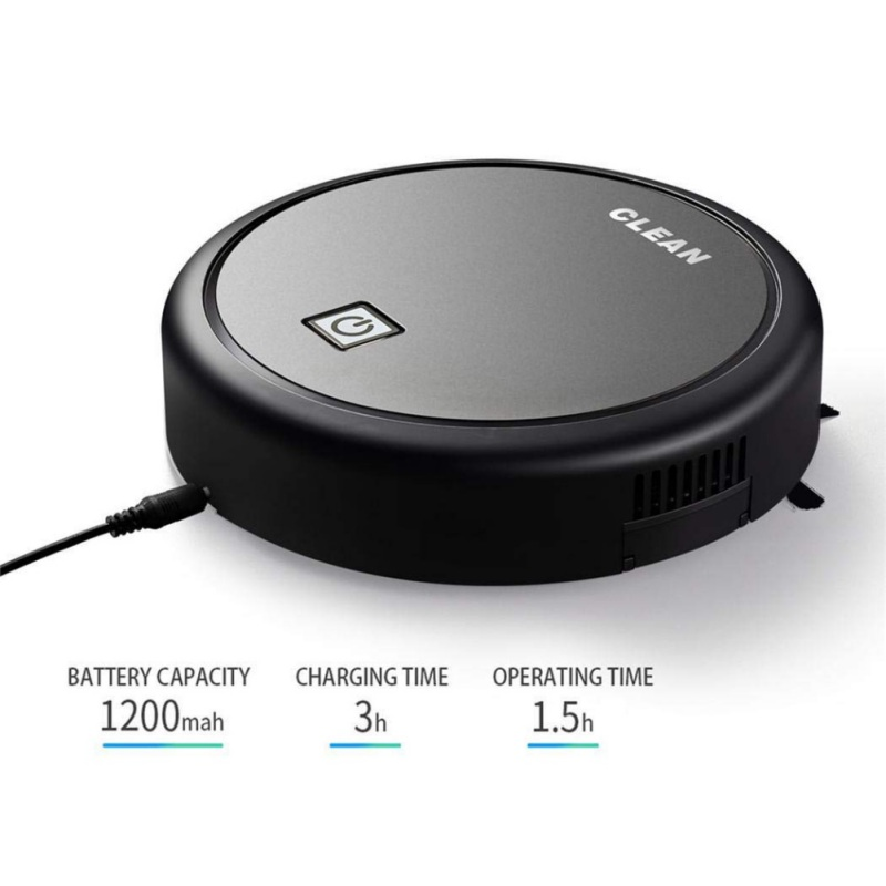 Sweeper 360° Robot Vacuum Cleaner Smart Sensor Protection Sweeper 3-In-1 USB Rechargeable Sweep&Wet Mop Simultaneously