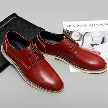 2019 Spring Men Sneakers Casual Soft Leather Men Shoes Brand Fashion Male Brown Sneakers Leather business men's shoes *9806