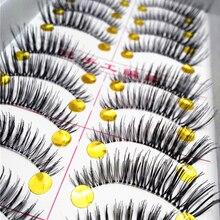 10 paire de faux cils naturels longs et épais Extensions de cils pour les yeux conseils de maquillage réutilisables faux cils faits à la main cils cosmétiques