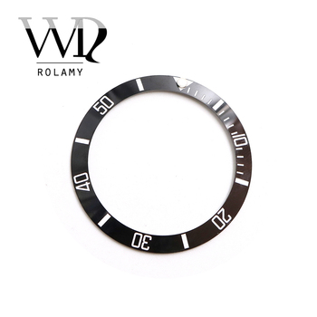 Rolamy Wholesale Replacement Black With White Writings Ceramic Bezel 38mm Insert made for Rolex Submariner GMT 40mm 116610 LN