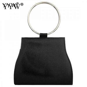 Image 3 - 여자를위한 yyw 가방 2019 유럽 패션 라운드 핸들 핸드백 미니 저녁 클러치 백 골드 컬러 웨딩 토트 핸드백 클러치
