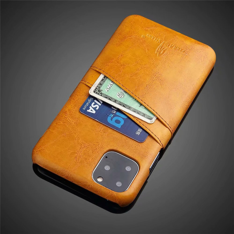 Slim Hard Leather Card Holder Case for iPhone 11/11 Pro/11 Pro Max 10