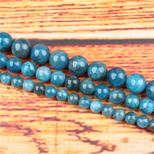 Apatite Natural Stone Bead Round Loose Spaced Beads 15 Inch Strand 4/6/8 / 10mm For Jewelry Making DIY Bracelet Necklace