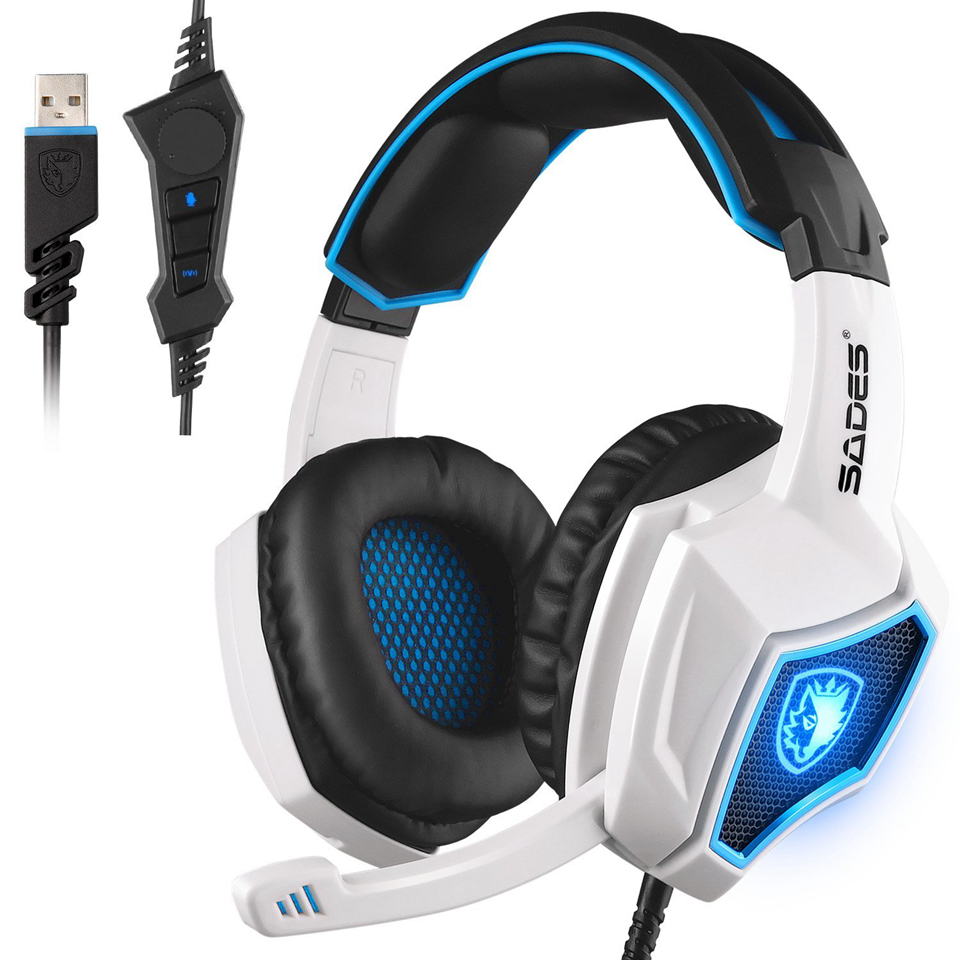 wired gaming headset com microfone extra baixo