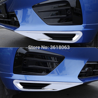 볼보 XC60 2018 용 전면 포그 라이트 스트립 커버 헤드 램프 트림 ABS 크롬 스티커 장식 자동차 스타일링 액세서리