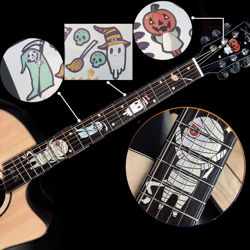 Guitar Fingerboard Fretboard Inlay Sticker DIY Halloween Wolf Peking