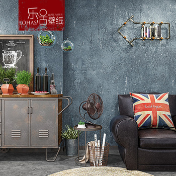 American Vintage Nostalgic Solid Color Plain Color Cement Gray Wallpaper Clothing Store Restaurant Hotel Industrial-Style Wallpa