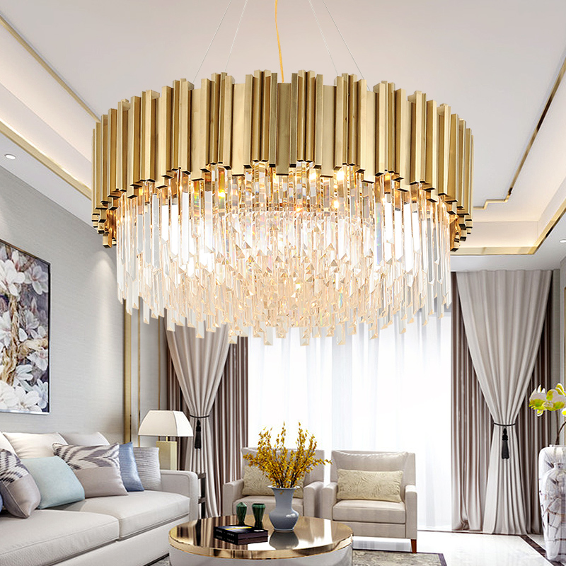 Living Room Lights 2019 New Post-modern Luxury Lights Simple Creative Personality Bedroom Dining Room Chandelier All Copper