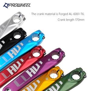 Image 2 - PROWHEEL 104BCD MTB Bike Crankset stop aluminium z dolnym korbą rowerową MTB korba akcesoria rowerowe 170mm 175mm