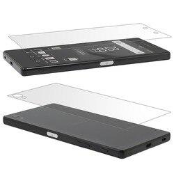 Frente De Vidro Temperado de Volta para o Sony Xperia Z Z1 Z2 Z3 Z4 Z5 M2 Filme Protetor de Tela para o Xperia Z1 z3 Z5 Z5 Compacto Premium Film